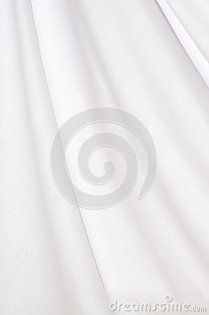 Background white cotton drapery