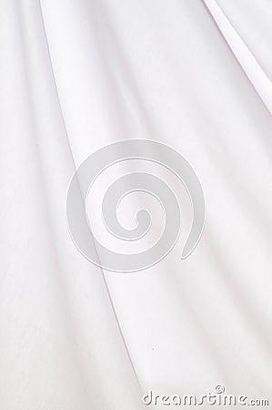 Background white cotton drapery