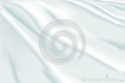 Background of white flowing fabric Vector Illustration