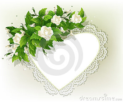 Background with white roses