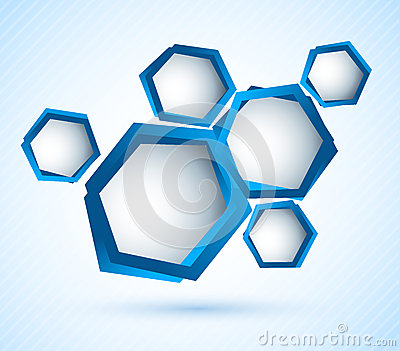 Background wiht hexagons