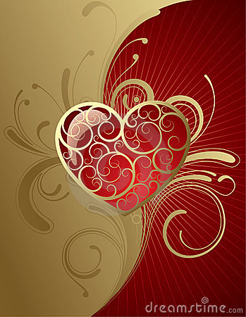 Free Background With A Heart Royalty Free Stock Image - 7356236