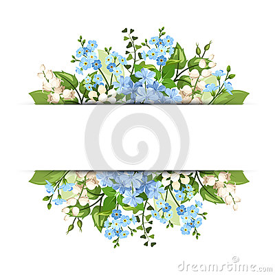 Free Background With Blue And White Flowers. Vector Eps-10. Stock Photo - 56201080