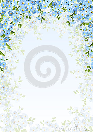 Free Background With Blue Forget-me-not Flowers. Vector Illustration. Stock Photography - 71933582