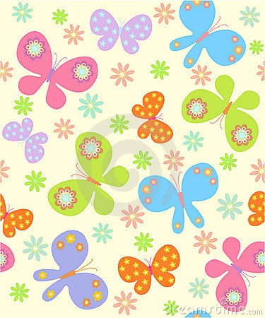 Free Background With Butterflies Royalty Free Stock Photo - 16783445