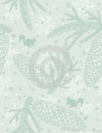 Free Background With Christmas Elements, Vector Royalty Free Stock Image - 26880326