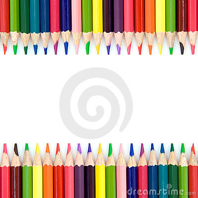 Free Background With Color Pencils Stock Image - 22688711
