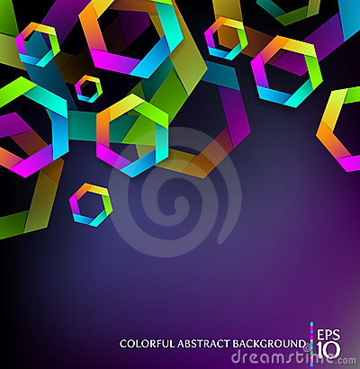 Free Background With Colorful Hexagons Royalty Free Stock Photos - 20748068