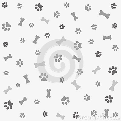 Free Background With Dog Paw Print And Bone Stock Image - 43949441