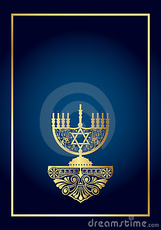 Free Background With Menorah Stock Images - 5101474
