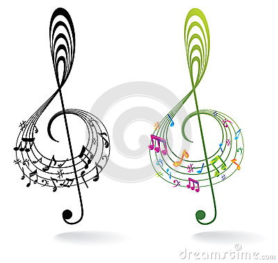 Free Background With Music Note. Stock Image - 28200231