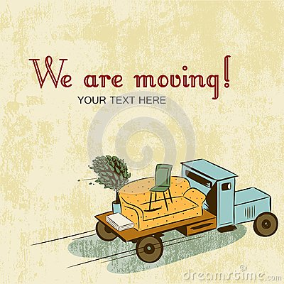 Free Background With Notice About Relocation Royalty Free Stock Photo - 26100545
