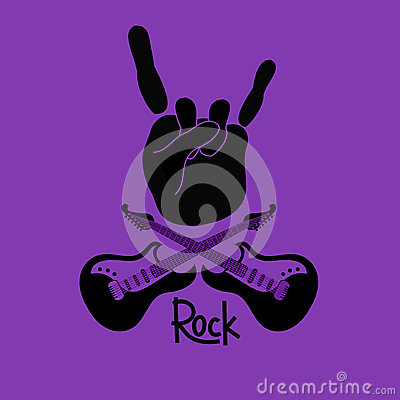 Free Background With Rock And Roll Sign Royalty Free Stock Images - 31984719