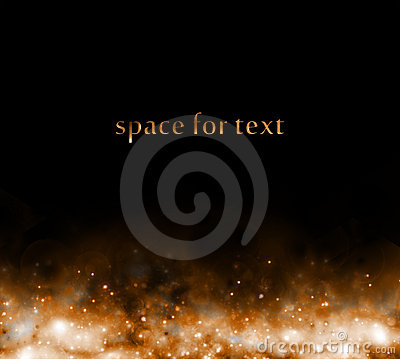 Free Background With Starfield Below Royalty Free Stock Photography - 17914487