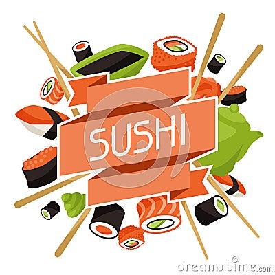 Free Background With Sushi Royalty Free Stock Image - 49688726