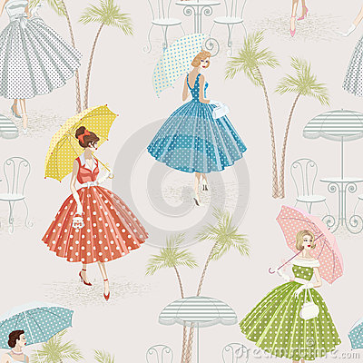 Free Background With Women Walking With Parasols Royalty Free Stock Photos - 24827308