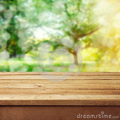 Free Background With Wooden Deck Table Royalty Free Stock Image - 29267986