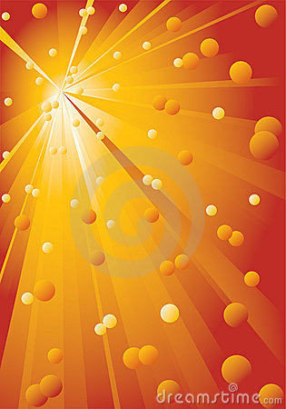 Free Background With Yellow-red Rays. Royalty Free Stock Photography - 17808937