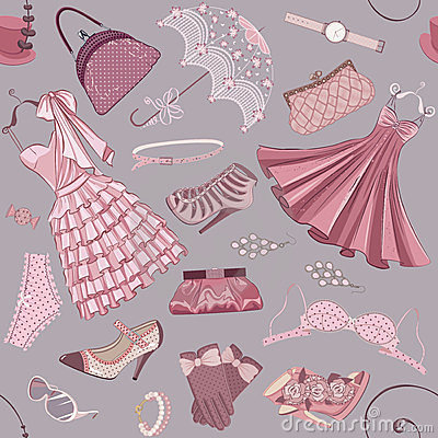 Background with women s clothing