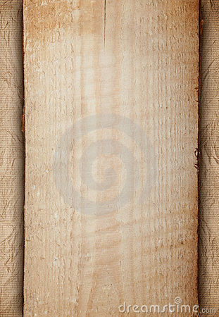 Background - Wood and old crumpled paper