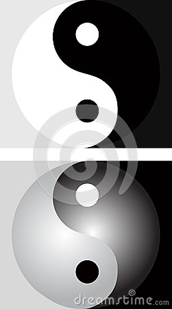 Background with yin yang