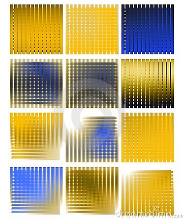 set of abstract colorful Backgrounds isolated