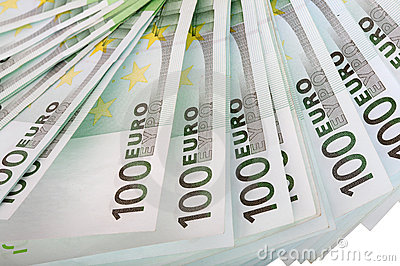 Backgrounds of one hundred euro.