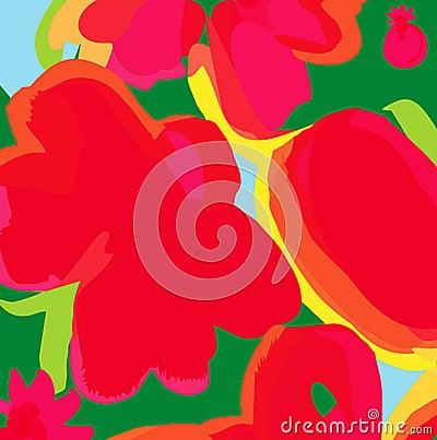 Backgroung floral moderne