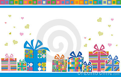 Backgroung with gift boxes