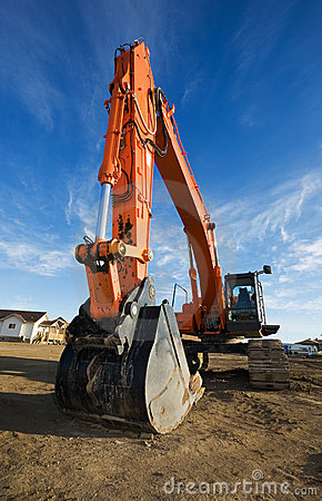 Free Backhoe At A Construction Site Royalty Free Stock Photography - 7474167
