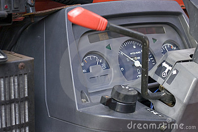 Backhoe Dash Board Fuel Gage