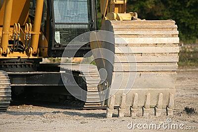 Backhoe on digger
