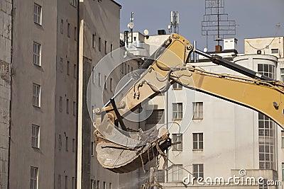 Backhoe of excavation vehicle