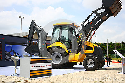 Backhoe Loader from Mahindra Construction Equipments Editorial Photo