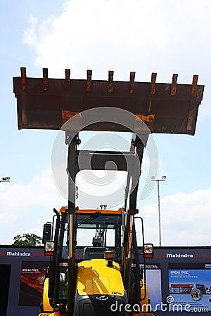 Backhoe Loader from Mahindra Construction Equipments Editorial Stock Photo