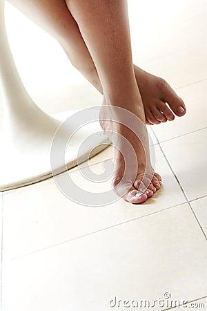 Backlit Feet