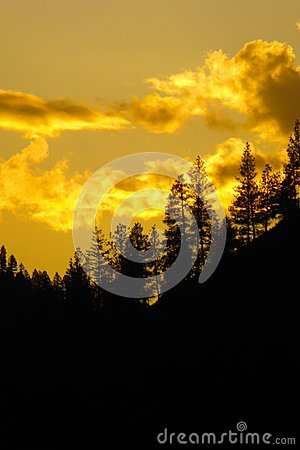 Free Backlit Mountains Western Montana Royalty Free Stock Images - 93566389