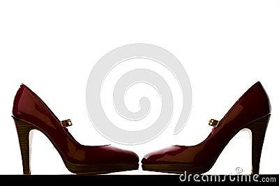 Backlit Pair of Red High Heels