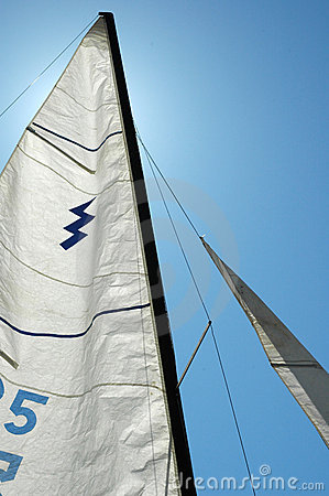 Backlit Sail on a Bright Sunny Day
