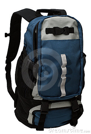 Free Backpack Isolated W. Path Royalty Free Stock Photography - 353587