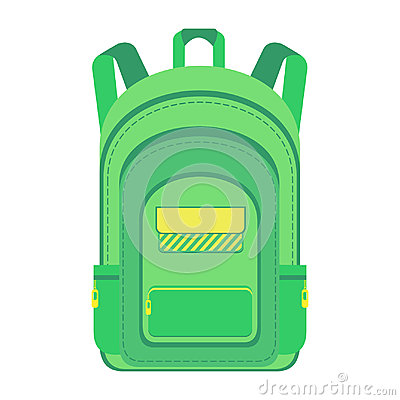 Backpack. Schoolbag. Vector Illustration