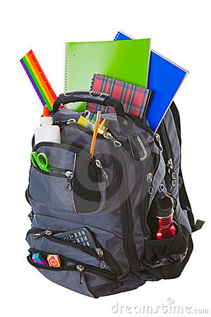 Free Backpack With School Supplies Royalty Free Stock Images - 20447829