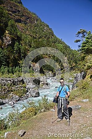 Backpacker in Nepal