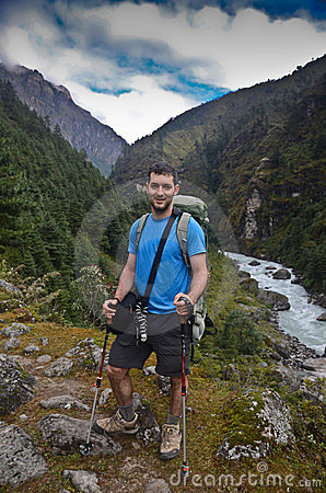 Backpacker in Nepal