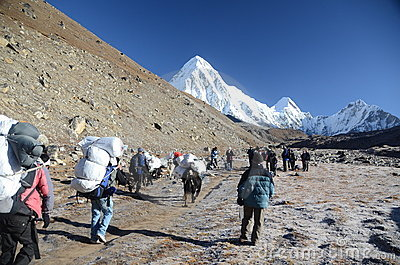 Backpacking in the Himalayas Editorial Image