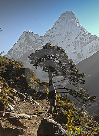 Backpacking in Nepal Editorial Image