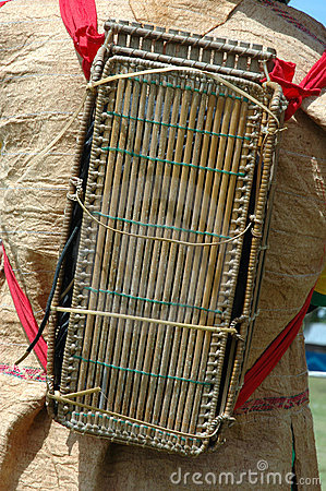 Backpacks tribal kalimantan Indonesia