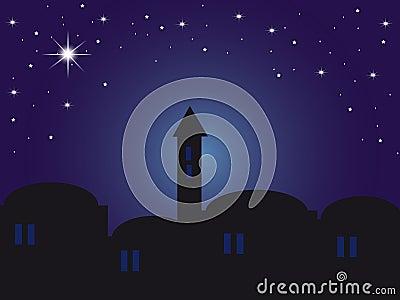 Backround night Bethlehem