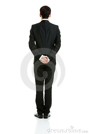 Backside of a businessman