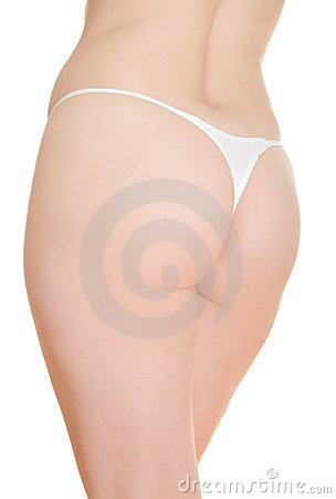Backside of mature woman